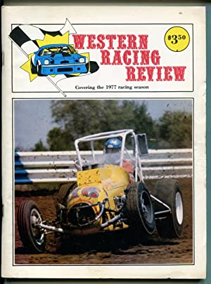 WESTERN RACE REVIEW AUTO RACE YEARBOOK-1977-NASCAR-USAC-CRA-IMSA-vg