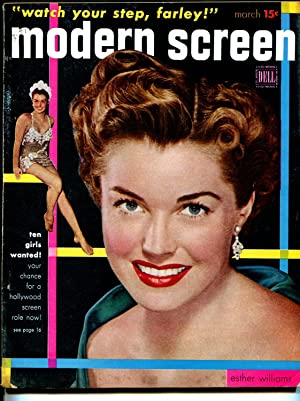 Modern Screen 3/1951 -Dell-Esther Williams-Montgomery Clift-Shirley Temple-VG