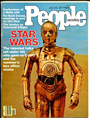People Weekly 7/18/1977-Star Wars-3-CPO-historic key issue-VG/FN