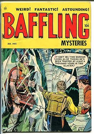 Baffling Mysteries #24 1954-ACE-last pre-code horror-werewolf-scorpion cult-VG+