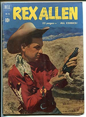 REX ALLEN #316-1951-DELL-1ST ISSUE-FOUR COLOR COMICS-B-WESTERN STAR-vg minus