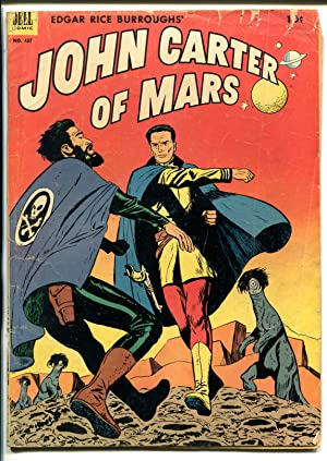 JOHN CARTER OF MARS #437-1952-DELL-BURROUGHS-FOUR COLOR-PULP STORIES-good/vg