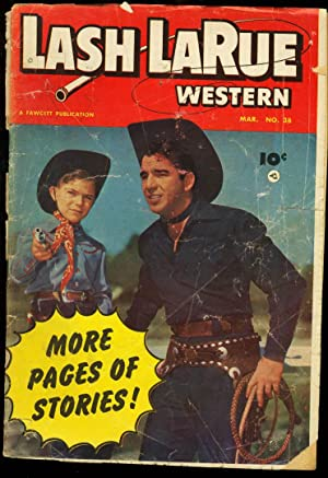 LASH LARUE WESTERN #38 FAWCETT PHOTO COVER