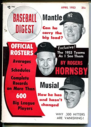 Baseball Digest-4/1953--Mickey Mantle-Rogers Hornsby-Stan Musial-VG