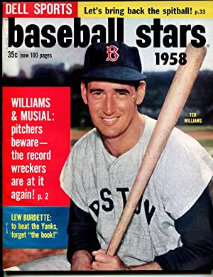 Dell Sports Baseball Stars #3 1958-Ted Williams-Stan Musial-MLB-pix-info-VF/NM
