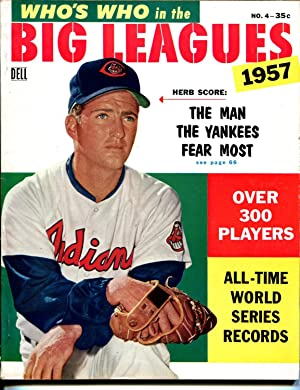 Who's Who In The Big Leagues #4 1957-Dell-Herb Score-MLB-Mickey Mantle-VF
