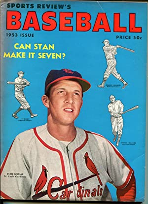 Sports Review's Baseball 1953-Stan Musial-MLB info & pix-FN-