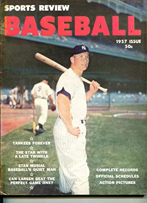 Sports Review's Baseball 1957-Mickey Mantle-MLB info & pix-VG+