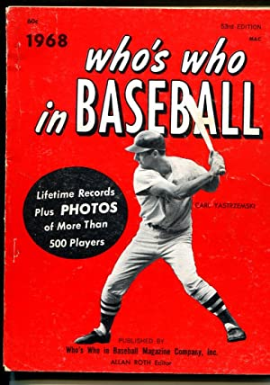 Who's who In Baseball-1968-Carl Yastrzemski-info & stats for top players-FN
