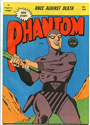 PHANTOM #901 -AUSTRALIAN EDITION-RACE AGAINST DEATH-32 PAGES-vf