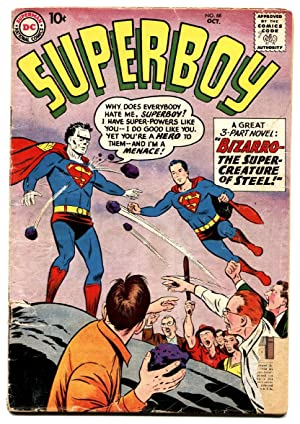 Superboy #68 1st appearance of Bizarro-Comic Book-1958 DC