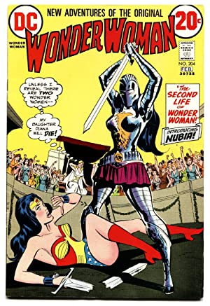 Wonder Woman #204 First appearance of NUBIA 1973 comic book DC