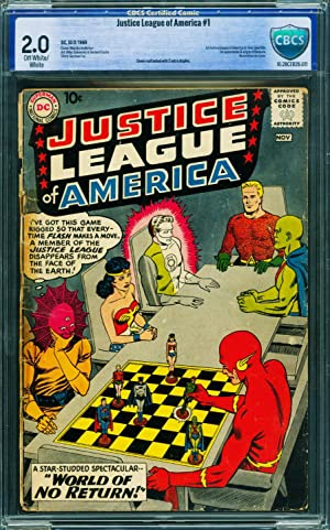JUSTICE LEAGUE OF AMERICA #1-CBCS 2.0-First issue-DC Key comic book
