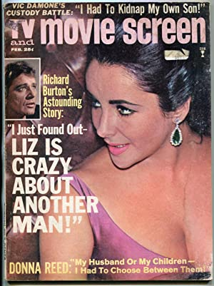 TV and Movie Screen Magazine February 1965- Liz Taylor- The Beatles