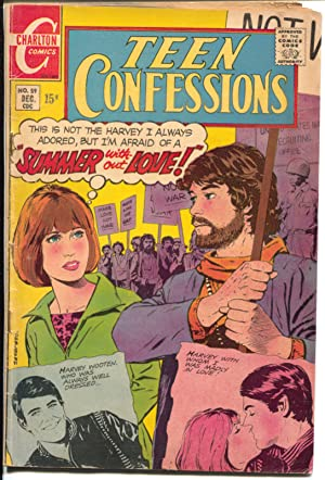 Teen Confessions #59 1969-Charlton-hippies-Viet Nam war protest-swimsuit-VG