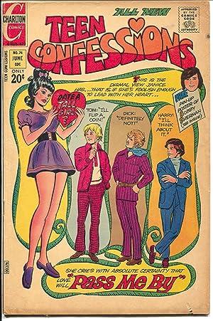 Teen Confessions #74 1972-Charlton-Corvette-Bobby Sherman-Tall Girl-VG