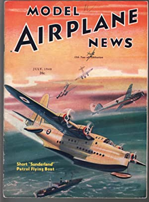 "Model Airplane News 7/1940- ""Sunderland"" Flying Boat-WWII"