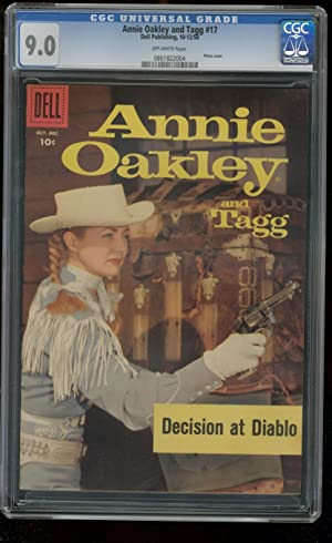 ANNIE OAKLEY AND TAGG #17 CGC GRADED 9.0- GAIL DAVIS 9.0 0801822004