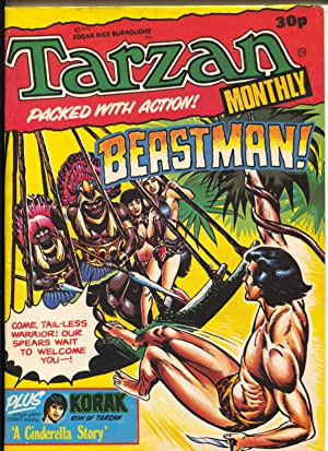 Tarzan Monthly 1978-Korak appears-U.K. edition-Russ Manning?l-ERB-VF