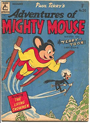Adventures of Mighty Mouse #26 1950's-Terry-Toon Cartoons-Australian-G