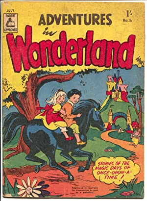 Adventures in Wonderland #5 1957-violent stories-humorous cover-Australian-VG