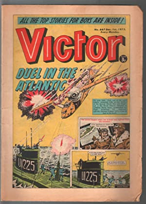 Victor #667 1973-British comic book-newspaper format-robot-VG