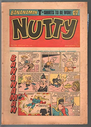 Nutty #84 1971-British comic book-newspaper format-underground style art-VG