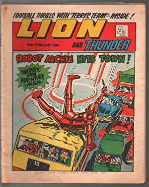 Lion and Thunder 2/16/1974-IPG-robot-underground comix style -sci-fi-horror-VG-