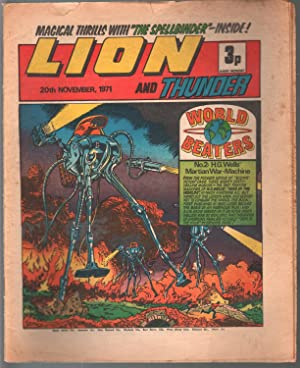 Lion and Thunder 11/20/1971-IPG-robot cover-War of Worlds-sci-fi-horror-VG