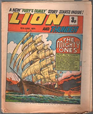 Lion and Thunder 6/12/1971-IPG-sailing cover--sci-fi-horror-G/VG