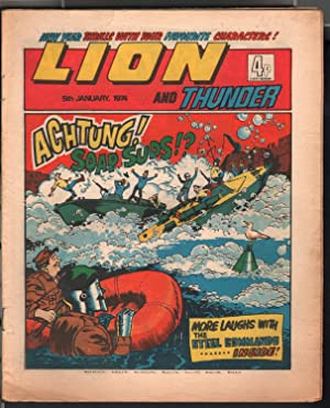 Lion and Thunder 1/5/1974-IPG-robot-underground comix style -sci-fi-horror-VG/FN