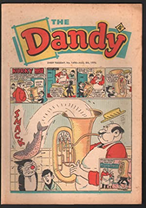 Dandy #1498 1970-D C Thompson-underground comix style-newspaper format-VG