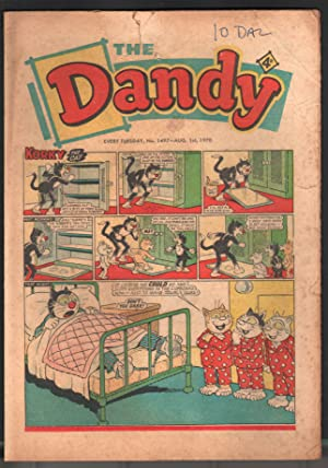 Dandy #1497 1970-D C Thompson-underground comix style-newspaper format-VG