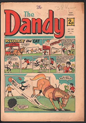 Dandy #1568 1971-D C Thompson-underground comix style-newspaper format-VG