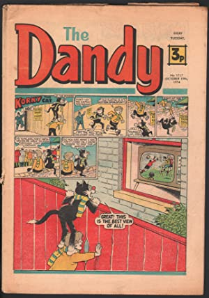 Dandy #1717 1974-D C Thompson-underground comix style-newspaper format-VG