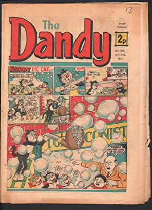 Dandy #1590 1972-D C Thompson-underground comix style-newspaper format-G