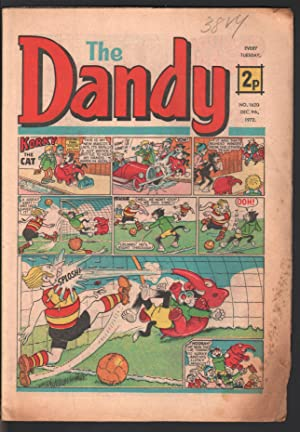 Dandy #1620 1972-D C Thompson-underground comix style-newspaper format-G