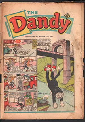 Dandy #1421 1969-D C Thompson-underground comix style-newspaper format-G