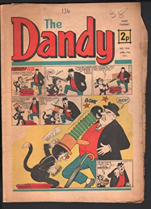 Dandy #1534 1971-D C Thompson-underground comix style-newspaper format-G