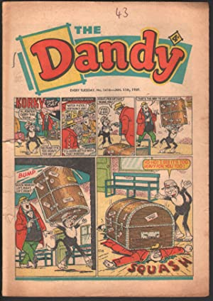 Dandy #1416 1969-D C Thompson-underground comix style-newspaper format-G