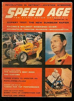 Speed Age 9/1958-Van Johnson-NASCAR-Indy Cars-dragsters-Sunbeam Rapier-VG