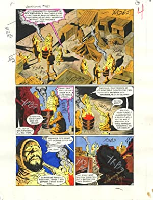 DETECTIVE COMICS #587-ORIGINAL D.C. PRODUCTION ART-PG 4 VG