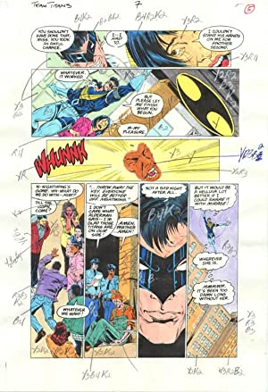 Original D.C. Color Guide Team Titans #7 Pg 5-- Phil Jiminez