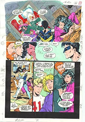 TEEN TITANS #7-PRODUCTION ART-COLOR GUIDE PG 15-JIMINEZ VG