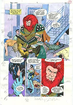 Original D.C. Color Guide Team Titans #7 Pg 23 Phil Jiminez VG