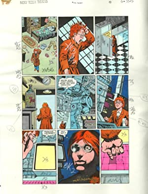 NEW TEEN TITANS #47-ORIGINAL D.C. PRODUCTION ART-PG 4 VG