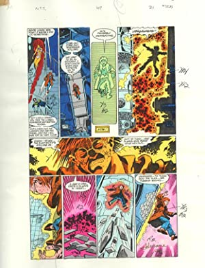NEW TEEN TITANS #47-ORIGINAL D.C. PRODUCTION ART-PG 21 VG