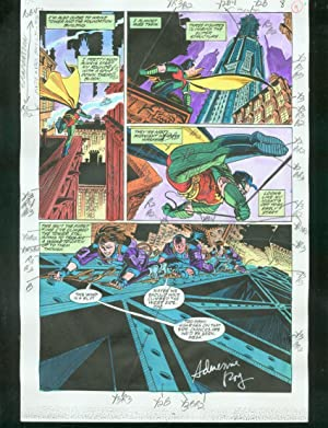 ORIGINAL D.C. COLOR GUIDE ROBIN ANNUAL #2 PG 9-SIGNED VG