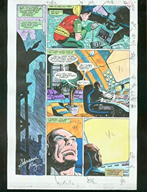 ORIGINAL D.C. COLOR GUIDE ROBIN ANNUAL #2 PG 37-SIGNED VG