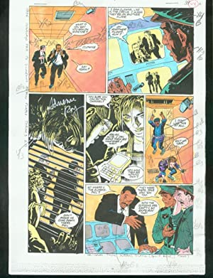 ORIGINAL D.C. COLOR GUIDE ROBIN ANNUAL #2 PG 44-SIGNED VG